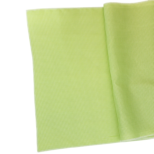 CLEARANCE Gingham Cotton Table Runner Chartruese
