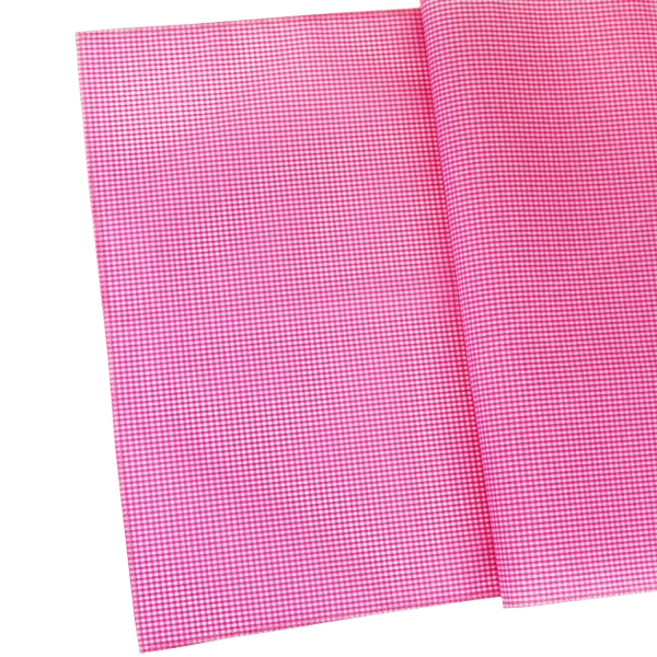 Gingham Cotton Table Runner Fuchsia Pink