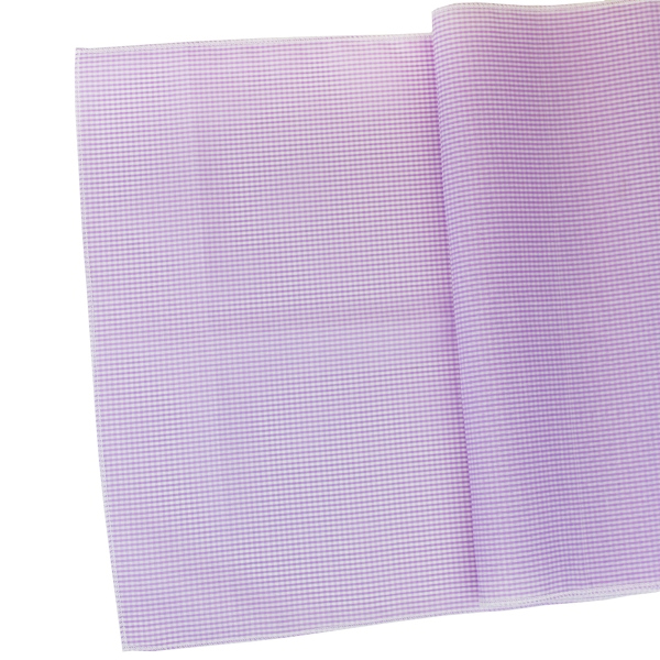 Gingham Cotton Table Runner Lilac Purple