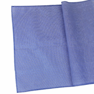 CLEARANCE Gingham Cotton Table Runner Navy Blue