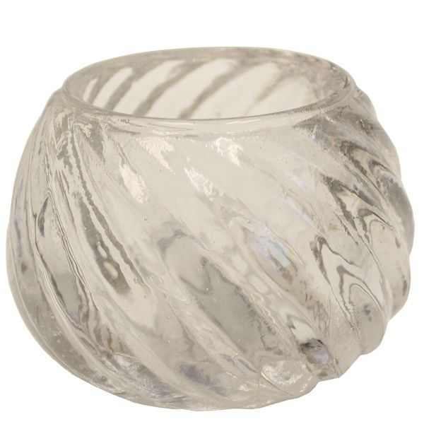 Glass Candle Holder Isabella Clear 2in