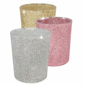 Glitter Glass Votive Candle Holders