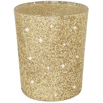 "Glitter Votive Candle Holder 2.75"" H (12pcs, Glitter Gold) - Premier"