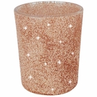 "Glitter Votive Candle Holder 2.75"" H (12pcs, Glitter Rose Gold) - Premier"