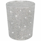 "Glitter Votive Candle Holder 2.75"" H (6pcs, Glitter Silver) - Premier"
