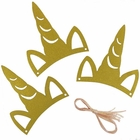 Gold Glitter Unicorn Party Headband 3pcs