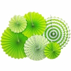 Green Apple and White Paper Pinwheel Decorating Kit 6pcs
