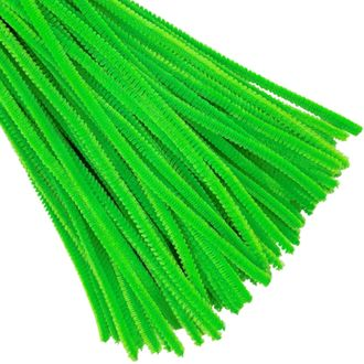 Green Chenille Stem Pipe Cleaners 100pcs