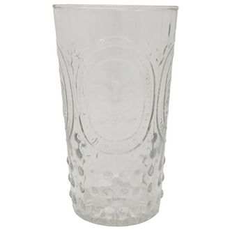Highball Drinking Glass Fluer De Lis Clear 9oz