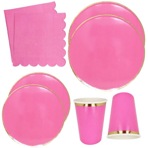 Hot Pink Tableware Kit 44pcs - Premier