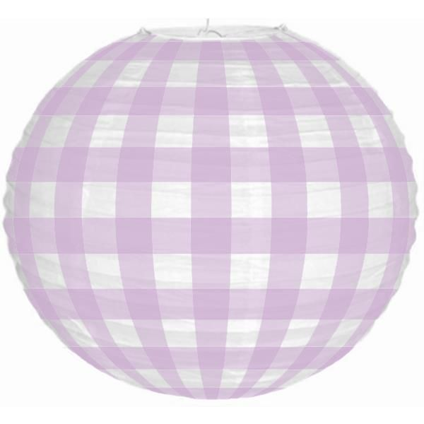 Ice Cream Shoppe Purple Plaid 12inch Paper Lantern