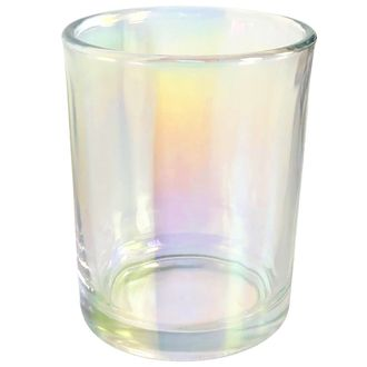 "Iridescent Glass Votive Candle Holder 2.75""H"
