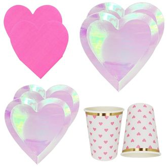 Iridescent Hearts Tableware Kit 39pcs - Premier