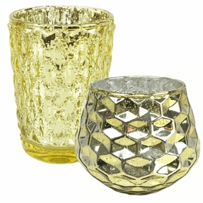 Irregular Glass Votive Candle Holders