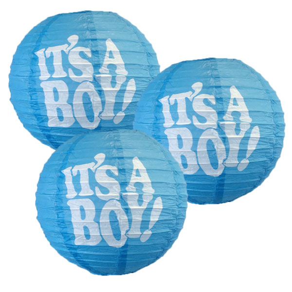 It's a Boy 10in Paper Lantern 3pcs