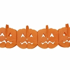 Jack O'Lanterns Expandable Tissue Paper Garland Party Streamers (6 Pack, Orange) - Premier