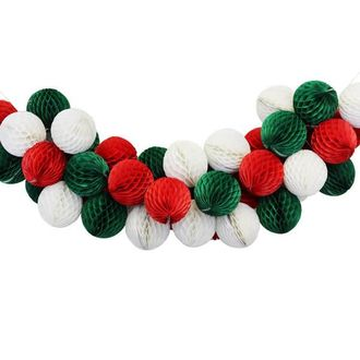 Jingle Bells Honeycomb Ball Decorating Kit