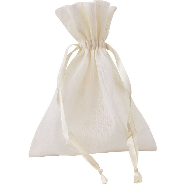 CLEARANCE Large Cotton Favor Bag 10pcs Ivory