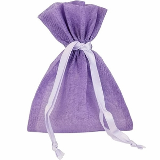 CLEARANCE Large Cotton Favor Bag 10pcs Lilac