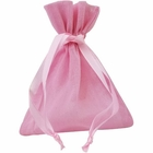 Large Cotton Favor Bag 10pcs Pink