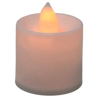 Large Flameless LED Tea Light Candle Orange 24pcs