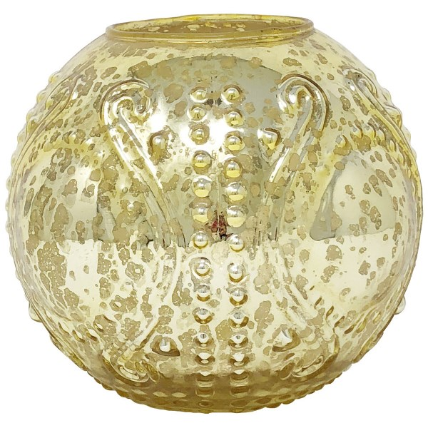 Large Mercury Glass Candle Holder Gold Josephine
