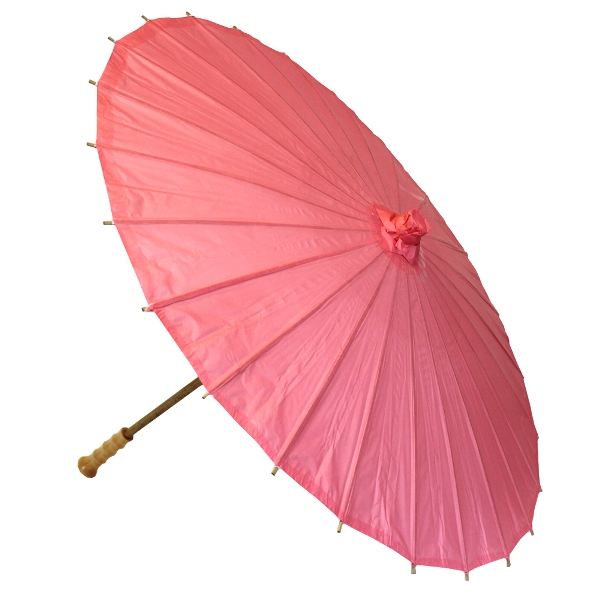 Large Paper Parasol 32in Coral