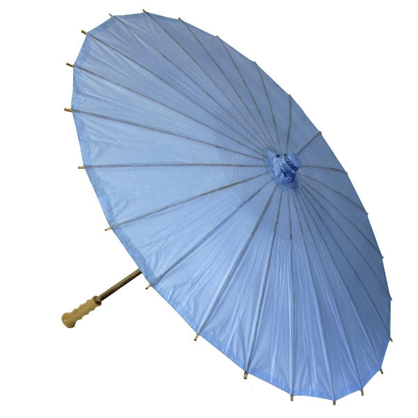 Large Paper Parasol 32in Periwinkle