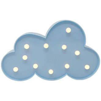 Light Blue Cloud 7in Marquee LED Battery Operated Light