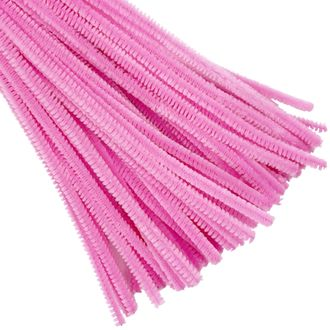 Light Pink Chenille Stem Pipe Cleaners 100pcs