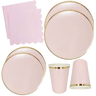 Light Pink Tableware Kit 44pcs - Premier