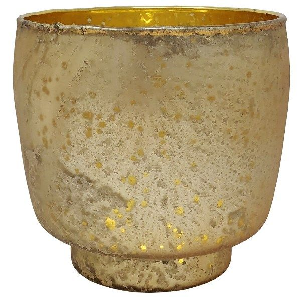 Luxe Glass Candle Holder Gold Kebi