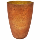 Luxe Glass Large Candle Holder Copper Nubiti