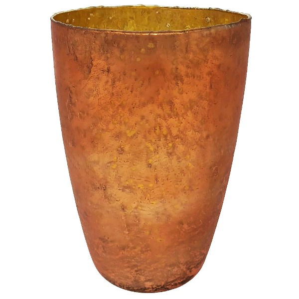CLEARANCE Luxe Glass Large Candle Holder Copper Nubiti
