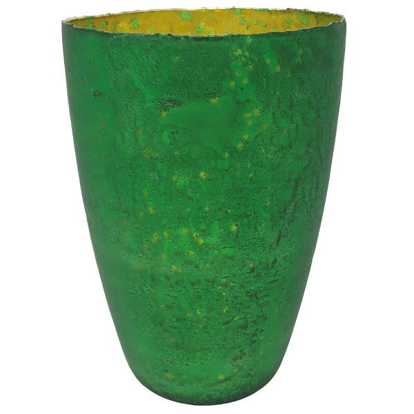 Luxe Glass Large Candle Holder Emerald Green Nubiti