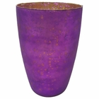Luxe Glass Large Candle Holder Plum Purple Nubiti