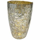 CLEARANCE Luxe Glass Large Candle Holder Silver Nubiti
