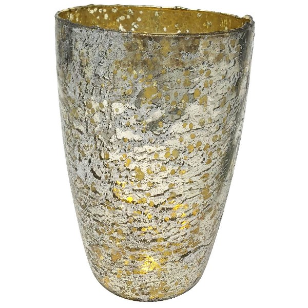 Luxe Glass Large Candle Holder Silver Nubiti