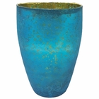 Luxe Glass Large Candle Holder Turquoise Blue Nubiti