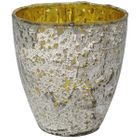 Luxe Glass Small Candle Holder Silver Ebe