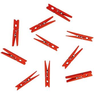"Medium 2.75"" Craft Wood Clothespins 50pcs Tangerine"