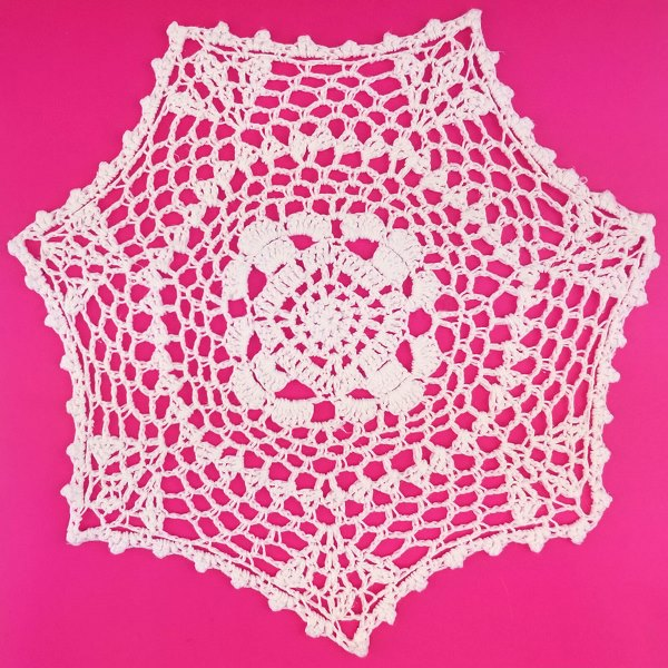 Medium Cotton Lace Crocheted Doilies 4pcs Esther White