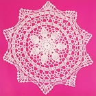 Medium Cotton Lace Crocheted Doilies 4pcs Lucille White