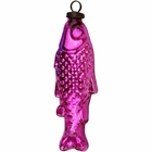 CLEARANCE Medium Mercury Glass Ornament Fish Fuchsia