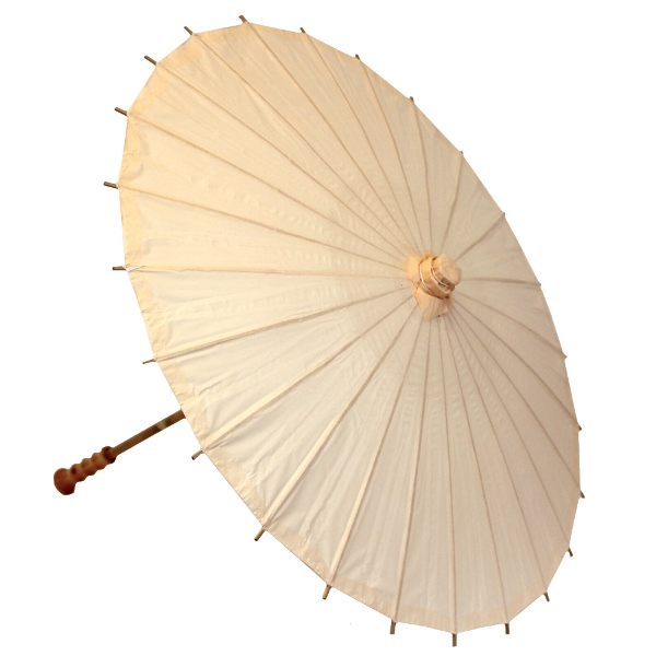 Medium Paper Parasol 28in Cantaloupe Orange