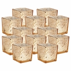"Mercury Glass Square Votive�Candle Holder 2.25""H�(12pcs,�Speckled Gold) - Premier"