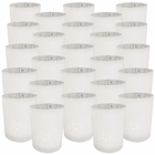 "Mercury Glass Votive Candle Holder 2.75"" H (25pcs, Speckled Matte White) - Premier"