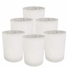 "Mercury Glass Votive Candle Holder 2.75"" H (6pc, Speckled Matte White) - Premier"