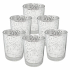 "Mercury Glass Votive Candle Holder 2.75""H (6pcs, Speckled Silver) - Premier"