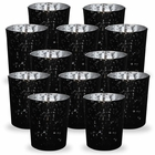 Mercury Glass Votive Candle Holder 2.75-Inch (12pcs, Speckled Black) - Premier